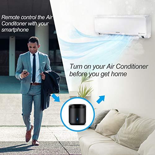 Broadlink Smart Home Hub, RM Mini3 Telecomando universale WiFi intelligente IR (a infrarossi), telecomando a infrarossi unico per tutti - Nero