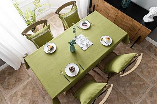HXOUDAN Eenvoudig Europees groen tafelkleed polyester kant rand rechthoekige stofdichte tafelkleden voor thee tafel koelkast hoge kwaliteit