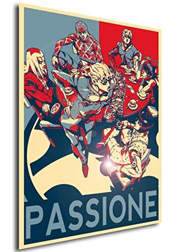 Instabuy Poster Propaganda JoJo Vento Aureo Passione Characters A3 42x30