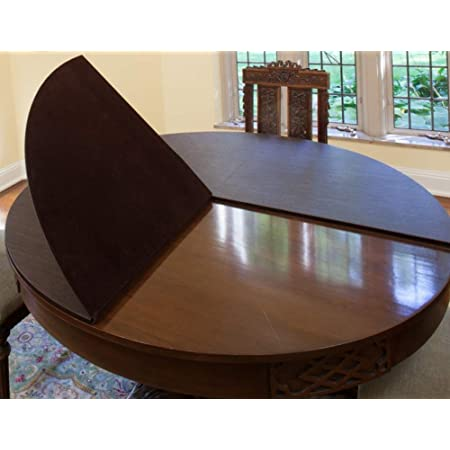 Max Size: 80 Long by 54 Wide Table Pads for Dining Room Table Custom Made up to 24 Premium Quality Table Pads| Leaf Extensions Optional | $ Add One Leaf
