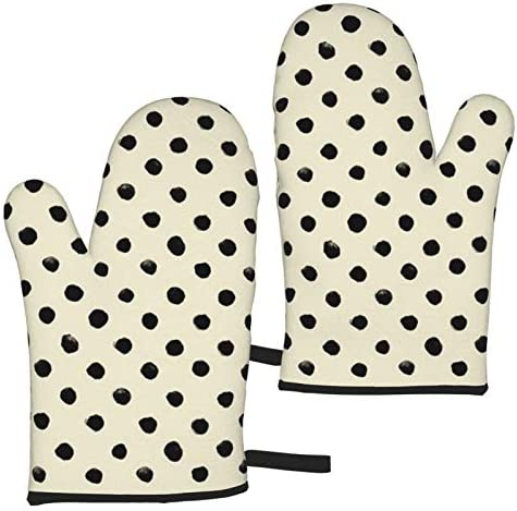 Watercolor Polka Dot Oven Mitts Heat Resistant Baking Microwave Oven Gloves Nonslip Gloves For product image