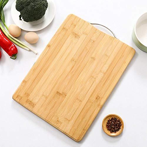 Tabla de cortar de bambú Nanzhu de cocina Tabla de de madera maciza gruesa Rectangular grande Tablas de cortar de frutas
