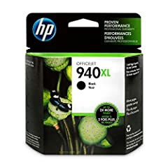 HP 940 ink cartridges work with: HP Officejet Pro 8000, 8500. Get up to 2x the pages with Original HP XL ink cartridges compared to standard cartridges. Cartridge yield (approx.): 2,200 pages Original HP ink cartridges: genuine ink for your HP printe...