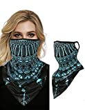 CHICME Multifunktionstuch Gesichtsmaske Druck Muster Gesicht Bandana Kopftuch Winddicht Nahtlose...