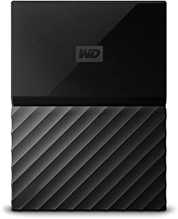 WD 西部数据 My Passport 2.5英寸 移动硬盘 1TB 黑色 WDBYNN0010BBK 配有密码保护功能和自动备份软件