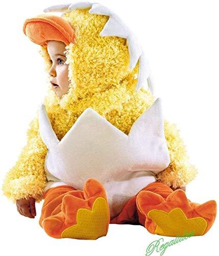 costume carnevale 24 mesi bimbo PRESTIGE & DELUXE Costume Vestito Carnevale  Bebe Pulcino  6 12 18 24 Mesi Taglia Baby (6-12 Mesi: Altezza Bimba/o 74 cm)