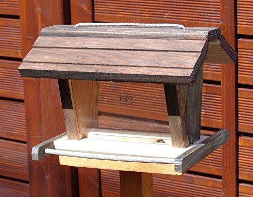Vogelfutterhaus BEL-X-VOFU2G-at002 PREMIUM Vogelhaus mit großem 3D-SILO + RIESEN-SICHTSCHEIBEN Vogelfutterhaus schwarz anthrazit Schwarzlasur dunkelgrau Holz Nistkästen biologische Garten, KOMPLETT MIT 2 GROSSEN SICHTSCHEIBEN FÜR FUTTERVORRAT, als Ergänzung zum Meisenkasten oder zum Insektenhotel, Vogelfutterhaus Vogelfutterhaus, für Vögel, Vogelfutterhaus zum Hängen und zum Aufstellen - 2