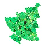Swpeet 1000Pcs Christmas Green Craft Buttons, 2 and 4 Holes Red Round Craft Resin Sewing Buttons Suitable for Christmas Sewing Decorations, Art & Crafts Projects DIY Decoration - Green
