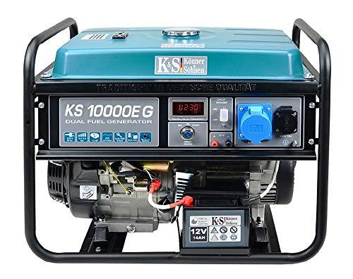 K&S - Puissant groupe électrogène gaz-essence, 71dB/8000W