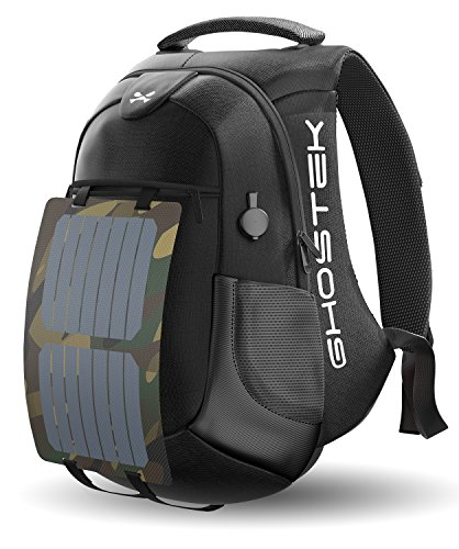 Ghostek NRGsolar Series 40L Eco Computer Laptop Messenger Backpack Book Bag +...