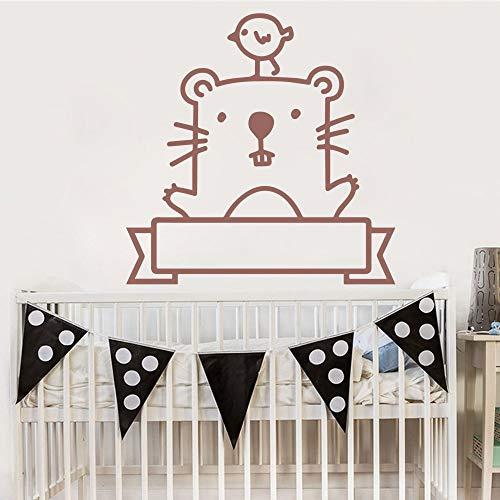 mlpnko Benutzerdefinierte Wandaufkleber im Cartoon-Stil Hauptdekoration Kinderzimmer natürliche Dekoration abnehmbare dekorative Wandtattoo 42X42cm