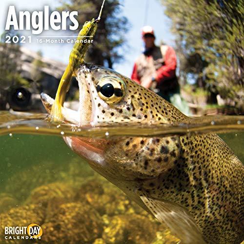 Bright Day 2021 Anglers Wandkalender, 30,5 x 30,5 cm, Naturfischen