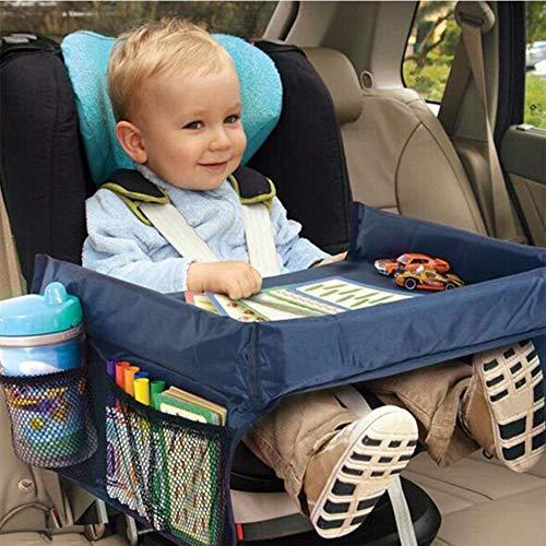Bebé Asiento de coche Bandeja Cochecito Niños Comida Juguete Soporte de almacenamiento de mesa de agua Niños Mesa de escritorio portátil para coche