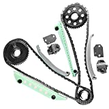 OCPTY Timing Chain Kit Cam Gear Crank Sprocket Tensioners Guide Rails fits for 1997-2010 Ford F-150 Explorer Expedition 4.6L SOHC VIN 6 W 90387SG