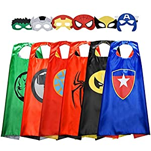 High Quality Materials - High quality materials featuring satin capes with vibrant colors and kids-friendly fabrics. The mask is made of premium felt, easily adjustable to strap onto any size head. They can be comfortably worn for long periods of tim...