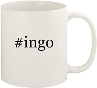 #ingo - 11oz Hashtag Ceramic White Coffee Mug Cup, White