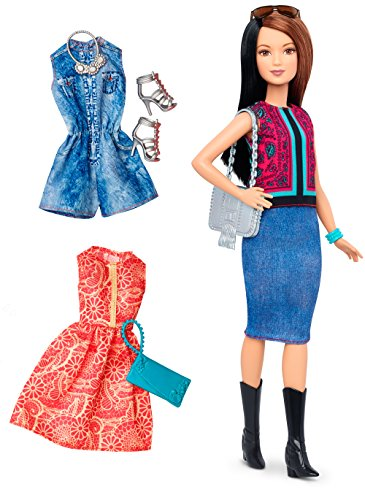 Barbie - Muñeca Fashionista, Botas de Vaquera (Mattel DTF04)