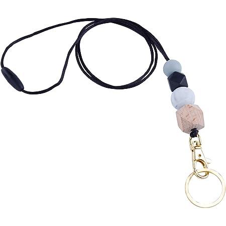 Teacher Badge Necklace ID Lanyard  Badge Holder Badge Necklace Lanyard Beaded Necklace Nurse Lanyard Candy Corn Beaded Breakaway Lanyard