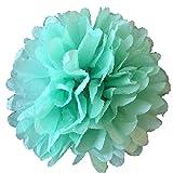 10 pompones de papel de seda de 25 cm para decoración de fiestas o bodas, color verde menta