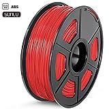 SUNLU Filamento ABS 1.75mm 1kg Impresora 3D Filamento, Precisión Dimensional +/- 0.02 mm, ABS Rojo
