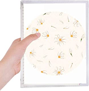 White Pear Flower Petal Flower Plant Notebook Loose Leaf Diary Refillable Journal Stationery