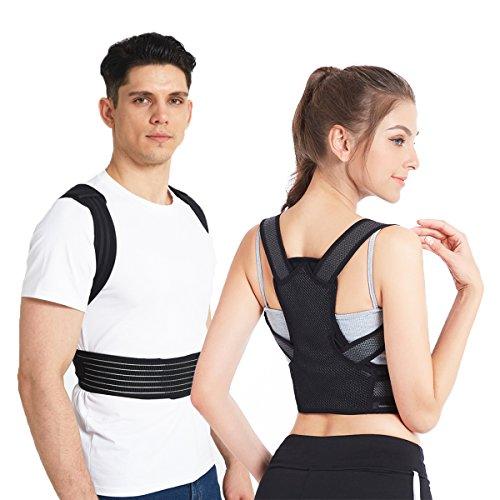 Slimerence Rücken Haltungskorrektur, Haltungskorrektor für Wirbelsäule und Rückenstütze, Haltungstrainer für Damen, Herren und Child Lindert Rücken- und Schulterschmerzen XL