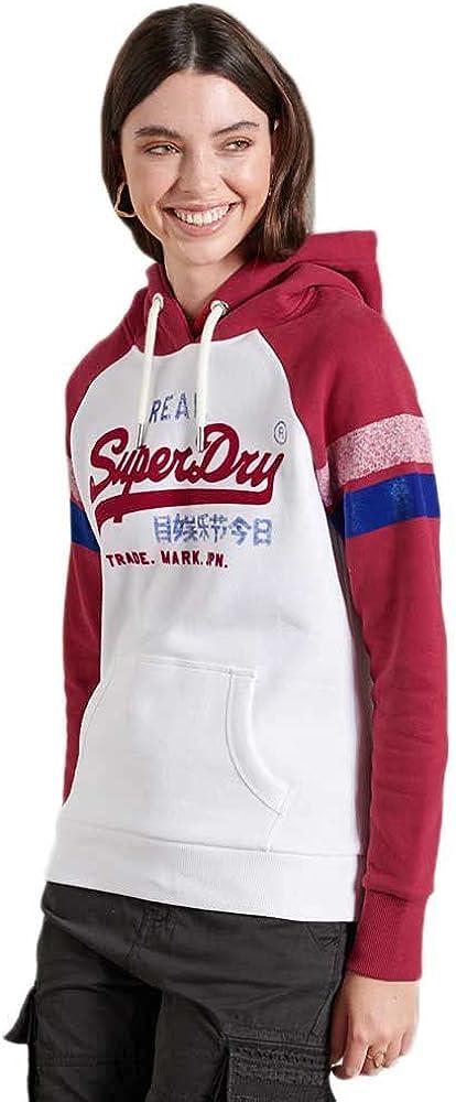 Superdry Vintage Logo Varsity Raglan Hoodie
