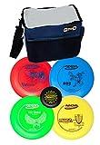 INNOVA Disc Golf Set with 4 Discs Starter Disc Golf Bag – DX Distance Driver, Fairway Driver, Mid-Range,...