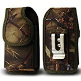 Golden Sheeps Military Grade Heavy Duty Holster Nylon Metal Clip Compatible with Kyocera Cadence S2720, DuraXTP,DuraXV LTE,DuraXV Plus,DuraXE,Large FLIP Phones & Insulin Pumps[4.4'X2.3'X1.1'] (camo)
