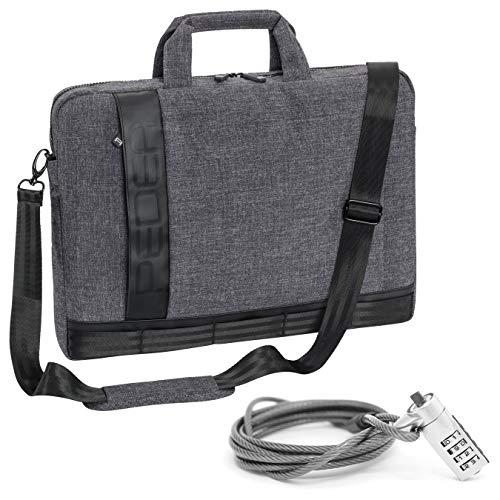 PEDEA borsa per PC portatile 'Fancy' Borsa per notebook fino a 15,6 pollici (39,6 cm) borsa con tracolla incluso lucchetto notebook, grigio