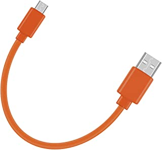 Replacement Tour Flat Charging Power Cable Cord for JBL Charge 3, Charge 2, Flip 4, Pulse 2, Flip 2, Flip 3, Pulse, Go, Clip Plus, Clip, Micro II, Micro, Trip, Charge, Charge 2 Plus Speaker (20CM)