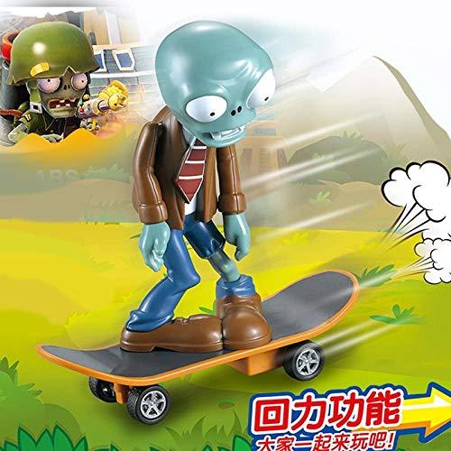 Pflanzen gegen Zombies Spielzeug Kompletter Satz Hartplastik Geschenkbox Puppe Anime Handmade Toys-Skateboard Zombie