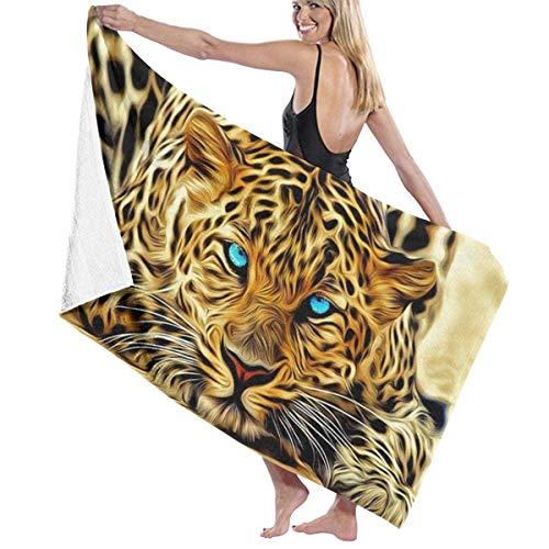huatongxin Leopard Badehandtücher Badetuch Badetuch Absorbent Soft 130 x 80 cm