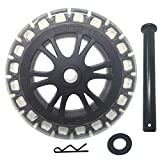 6' Wheel for Many Pellet Grills Including Pit Boss, Louisiana, Cabelas & More