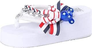 SHANLEE Summer Shoes Ladies Flowers Slipper Wedges Waterproof Sandals Wedge Women Slippers