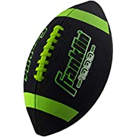 Franklin Sports Junior Size Grip-Rite Youth Football with Extra Grip Synthetic Leather (Black/Optic)