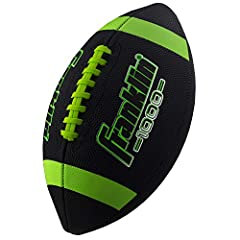 DURABLE KIDS FOOTBALL: These junior footballs are constructed from a durable, high-grip synthetic leather that stands up to wear and tear EASY GRIP: The deep-pebble surface material and pro style hand sewn laces ensures extra traction which makes the...