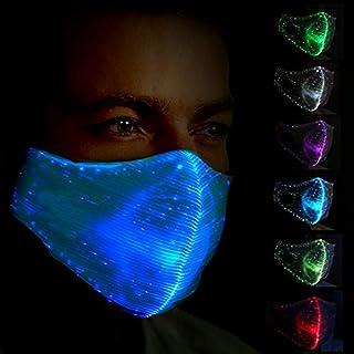 4b4f9c28319 Kafigc8 7 couleurs lumière LED visage Bouche Masque Homme Femme fête Nuit  Running Costume d