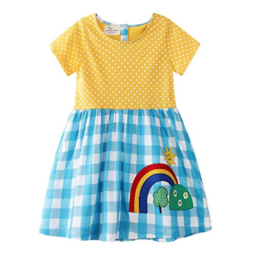 Bebé Niñas Vestidos,Vestido Casual de Manga Larga con Estampado An