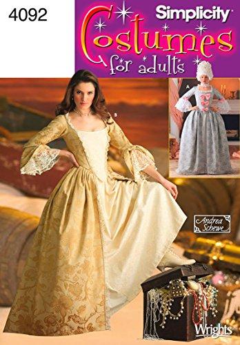 Simplicity 4092 - Patrones de Costura para Disfraces de Mujer