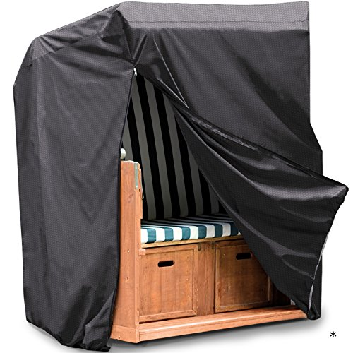 Schutzhülle Strandkorb Gartenmöbel Schutz Hülle Abdeckung Tragetasche Plane • Premium für Strandkörbe 130 x 100 170/134 cm