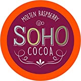 Soho Cocoa Molten Raspberry Hot Chocolate Pods for Keurig K-Cup Brewers, 40 Count