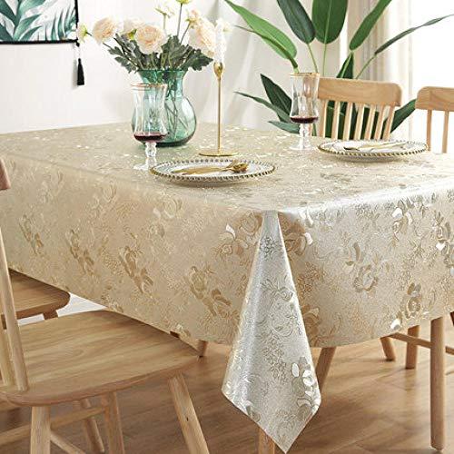 Traann tafelzeil, vierkant, waterdicht, langwerpig, rechthoekig tafelkleed, huisdecoratie voor feestjes, bruiloften, hot en stempels, geel 120*180