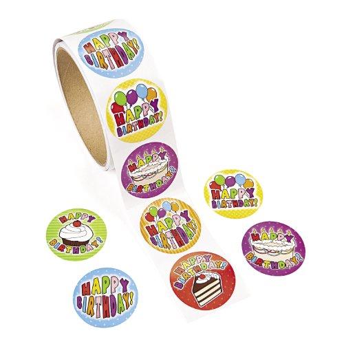 cama24com Happy Birthday Aufkleber Sticker 100 Stück Palandi®