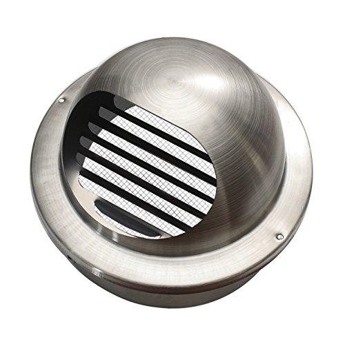 Edelstahl Ablufthaube (rund Rohranschluss Ø 60mm)