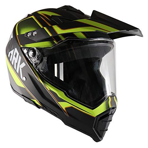 GHL Motorrad-Helm, Autobahn, für Straßen, Auto, Rennen, doppelt, mit Linse, Integralhelm, Herren, Frau, S