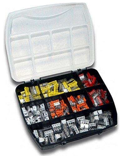 WAGO Klemme 2273 Serie Set Sortiment (160 Stück) inkl. Sortimentskasten 35x 2273-202 | 35x 2273-203 | 35x 2273-204 | 35x 2273-205 | 20x 2273-208
