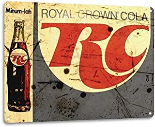 Not applicable Eight points Royal Crown RC Cola Soda Pop Ad Vintage Look Retro Store Tin Sign 8x12 inch Metal Tin Sign Decor Iron Painting Beer Tin Sign