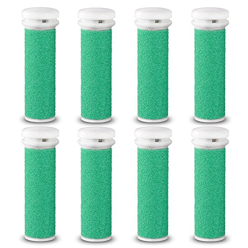 E-Cron® Ersatzrollen kompatibel mit Emjoi Micro-Pedi Elektrisch Hornhautentferner, Extra Hart, 8 Stk. Hornhaut Ersatzroller