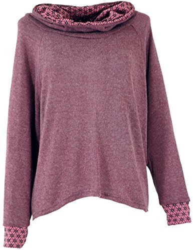 Guru-Shop Hoody, Sweatshirt, Pullover, Kapuzenpullover, Damen, Altrosa, Baumwolle, Size:M/L (40), Pullover, Longsleeves & Sweatshirts Alternative Bekleidung
